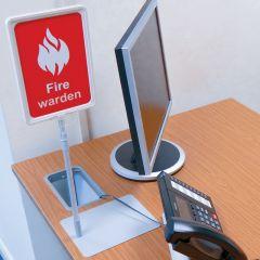 Fire Warden Desk Sign