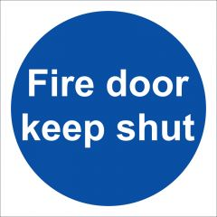 Fire Door Keep Shut Sign Vinyl