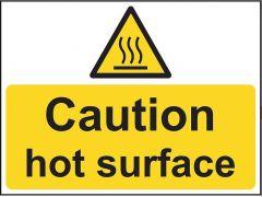 Caution Hot Surface - Vinyl 20 x 15 cm