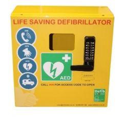 Outdoor Defibrillator Cabinet Stainless Steel Locked 1000 Series