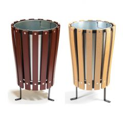 Trojan 40L Wood Effect Outdoor Bin with Liner