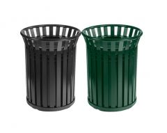 70 Litre Outdoor Open Top Steel Waste Bin (Various Colours)