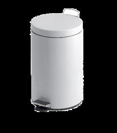 Trojan 3 Litre Pedal Bin in White