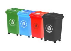 50 Litre Four Wheeled Wheelie Bin (Various Colours)