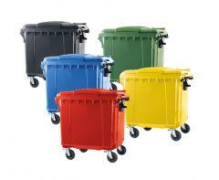 Trojan 660 Litre Wheelie Bin (Various Colours)