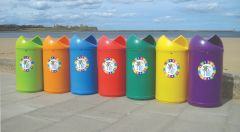 Twist Litter Bins with Frog Logo