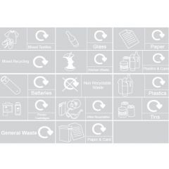 Recycling Label Sheet (14 Different Labels per Sheet)