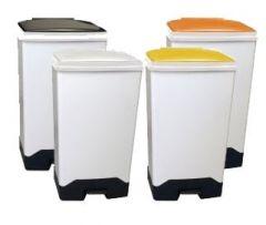 70Ltr Fully Plastic Fire Retardant Sackholder 4 Lid Colours