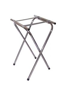 Fold-Away Tray Stand in Chrome