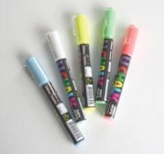 U Chalk Standard Pens Dry Wipe/Wet Wipe (Pack of 5)