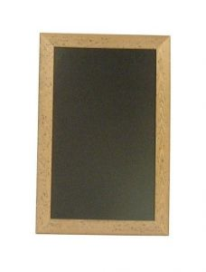 Chalkboard with Antique Finish Wooden Frame 400 x 600mm