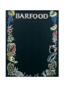 'Bar Food' Printed Effect Display Board 610 x 762mm