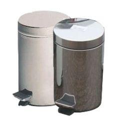 Pedal bin 3 litre with plastic liner (Various colours)