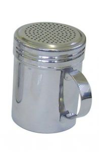 Stainless Steel Dredger with Handle 10z  (Pack of 12)