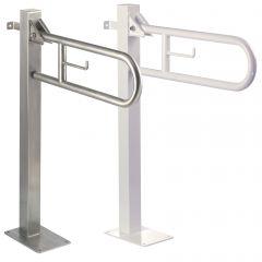 Mediclinics Wall-to-Floor Swing Up Grab Bar / Vertical Turn
