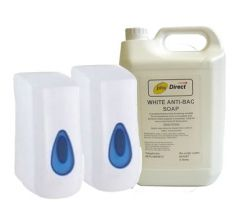 Soap Starter Pack - 2 x Soap Dispensers and 1 x 5 Litre Soap