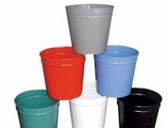Circular 12 Litre waste basket - Steel