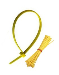 Yellow Clinical Waste Bag Cable Ties - Pack of 100