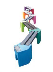 Multicoloured Zig-Zag Benches - 12 Person Bench