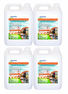 Cleanline Eco Degreaser Orange Citrus Concentrate 5L x 4