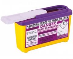Purple Lid Sharps Com Plus Bin 1 Litre (Case of 30)