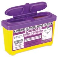 Purple Lid Sharps Bin 1 Litre (Case of 30)