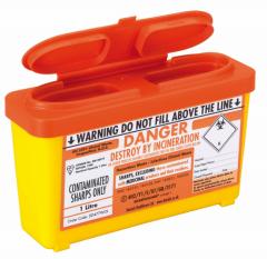 Orange Lid Sharps Web Bin 1 Litre (Case of 30)