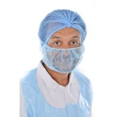 CaterSafe Disposable Beard Mask- Blue (Pack of 100)