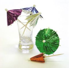 Foil parasol, assorted colours