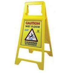 Caution Cleaning in Progress/Wet Floor Caution Sign