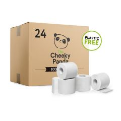 Cheeky Panda Eco Friendly Sustainable Bamboo 3 Ply Toilet Rolls 24