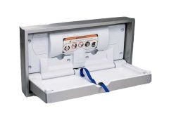 Dolphin Horizontal Clad Baby Changing Table (Recessed)