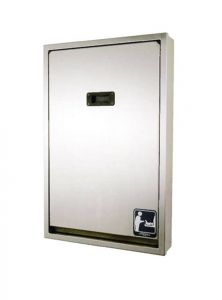 Dolphin Full Stainless Vertical Baby Changing Table - Recessed