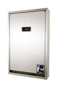 Dolphin Full Stainless Vertical Baby Changing Table - Surface Mounted