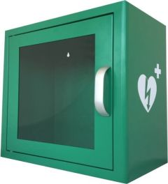 Green Metal Universal Indoor AED Cabinet with Alarm