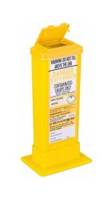 Yellow Lid Sharps Bin with Needle Remover 0.5 Litre (Case of 60)