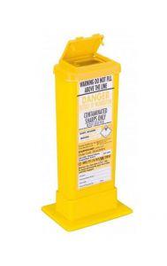 Yellow Lid Sharps Bin 0.5 Litre (Case of 60)