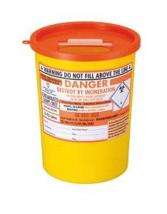 Orange Lid Sharps Bin 3.75 Litre (Case of 48)