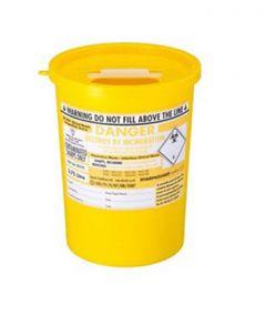 Yellow Lid Sharps Bin 3.75 Litre (Case of 48)
