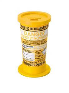 Yellow Lid Sharps Mini Bin 0.6 Litre (Case of 24)