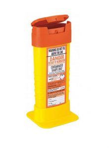Orange Lid Sharps Mini Bin 0.6 Litre (Case of 48)