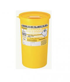 Yellow Lid Sharps Mini Bin 0.6 Litre (Case of 48)