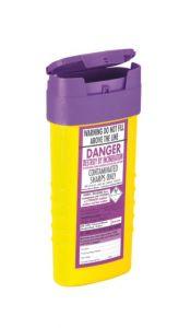 Purple Lid Sharps Bin 0.6 Litre (Case of 48)