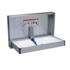 Dolphin Recessed S/Steel Horizontal Baby Changing Table