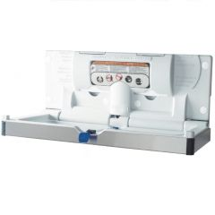 Dolphin Horizontal Baby Changing Unit in White- Stainless Steel Front