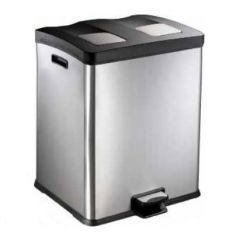 Multi-liner Stainless Steel Recycling Pedal Bins (Various Sizes)