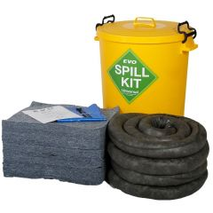 90 Litre EVO Recycled® Spill Kit in Yellow Plastic Drum