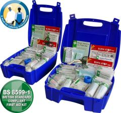 Evolution Catering First Aid Kit to BS8599-1 in a Sturdy Blue Case