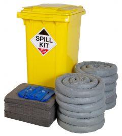 240L Spill Kits General, Chemical, Oil, AdBlue® in Wheeled Bin