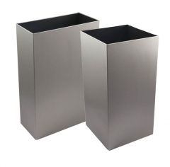 Synergise Open Top Wastebin In Brushed (Various Sizes)